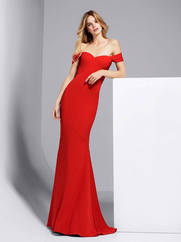 Pronovias 2017 vestidos rojo