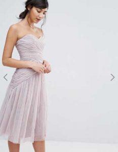 Vestido de fiesta elegante y corto