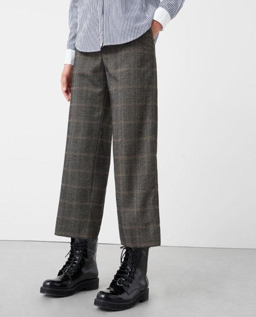 Outlet Mango pantalones de cuadrod