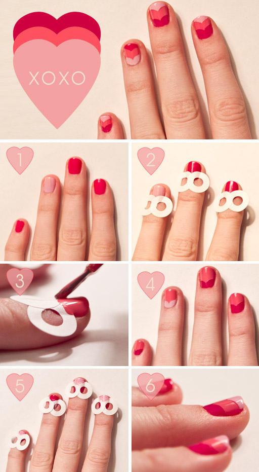 Uñas decoradas para San Valentín tutorial