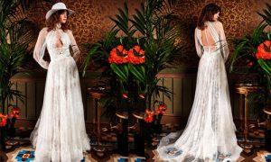 Vestidos de novia boho espalda abierta