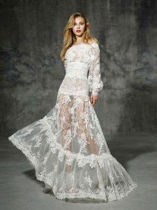 Vestidos de novia boho con transparencias