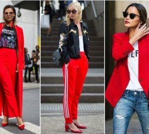 Rojo el color de moda