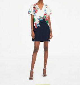 Vestidos con flores bicolor
