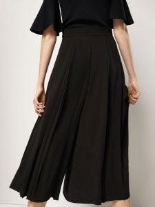 pantalones anchos negros