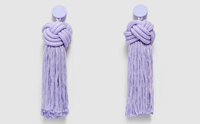 pendientes de moda ultra violet