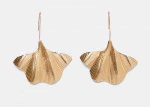 pendientes de moda hojas