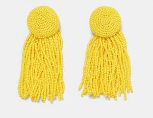 pendientes de moda amarillos