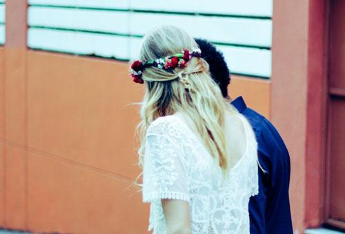 Tocados para bodas de novia