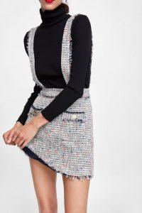 Falda tweed otoño